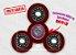 Fidget Hand Spinner - Discos Vermelho Translúcido - Imagem 1