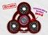 Fidget Hand Spinner - Órbita Vermelho Translúcido - Imagem 1