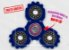 Fidget Hand Spinner - Engrenagem Azul Translúcido - Imagem 1