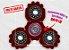 Fidget Hand Spinner - Engrenagem Vermelho Translúcido - Imagem 1