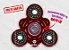 Fidget Hand Spinner - Solar Vermelho Translúcido - Imagem 1