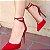 Sapato Scarpin Amarração Vermelho  - Imagem 1