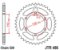 JT SPROCKETS COROA SUZUKI GSX-R 1000 SRAD 2017 A 2020 JTR486 42 DENTES - Imagem 2