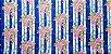 Floral 180687. Tecido 100% algodão. NF0046 (50x140cm) - Imagem 1