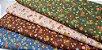 Pequenas Sunbonnets. Tecido em Algodão 100% Japonês em Fat Quarter   (50cm x 55cm) - Imagem 2
