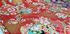 Flowers-06. Tecido Japonês 100% Algodão (50x55cm) - Imagem 2