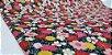 Flowers-07. Tecido Japonês 100% Algodão (50x55cm) - Imagem 2