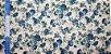 Blue Flower. Tecido em Algodão+Linho (50x110cm) - Imagem 4