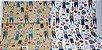 Cat Fashion. Tecido em Algodão com Linho TI010-(50x55cm) - Imagem 1