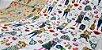 Cat Fashion. Tecido em Algodão com Linho TI010-(50x55cm) - Imagem 3