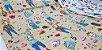 Cat Fashion. Tecido em Algodão com Linho TI010-(50x55cm) - Imagem 2