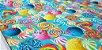 Pirulitos Coloridos. Tecido Digital.  50x70cm - Imagem 2