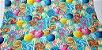 Pirulitos Coloridos. Tecido Digital.  50x70cm - Imagem 1