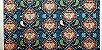 Mandala Azul. Tecido Digital. TD013. (50x70cm) - Imagem 1