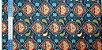 Mandala Azul. Tecido Digital.  50x70cm - Imagem 2