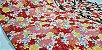 Floral. Tecido Japonês Douradinho. TI029 (50x55cm) - Imagem 1