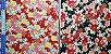 Floral. Tecido Japonês Douradinho. TI029 (50x55cm) - Imagem 4