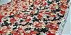 Floral. Tecido Japonês Douradinho. TI029 (50x55cm) - Imagem 2