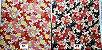 Floral. Tecido Japonês Douradinho. TI029 (50x55cm) - Imagem 3