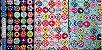 Colour Balls. 100% Algodão Japonês.  TI030-50cm x 55cm - Imagem 4