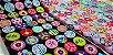 Colour Balls. 100% Algodão Japonês.  TI030-50cm x 55cm - Imagem 1