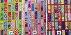 Colorful Squares. Tecido Japonês. TI034- 50cm x 55cm - Imagem 1
