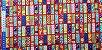 Colorful Squares. Tecido Japonês. TI034- 50cm x 55cm - Imagem 5