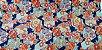 HexFlowers. Tec.Douradinho. TI045  (50cm x 55cm) - Imagem 2