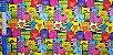 Gatinhos Coloridos.Tecido Digital. T030 - 50cm x 70cm - Imagem 4