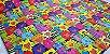 Gatinhos Coloridos.Tecido Digital. T030 - 50cm x 70cm - Imagem 1