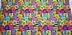 Gatinhos Coloridos.Tecido Digital. T030 - 50cm x 70cm - Imagem 2