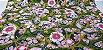 Flowers in Ellipse. Tec.Douradinho Japonês. TI049  (50cm x 55cm) - Imagem 2