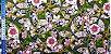 Flowers in Ellipse. Tec.Douradinho Japonês. TI049  (50cm x 55cm) - Imagem 4