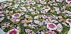 Flowers in Ellipse. Tec.Douradinho Japonês. TI049  (50cm x 55cm) - Imagem 3