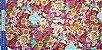Flowers. Tec.Douradinho Japonês. TI050  (50cm x 55cm) - Imagem 4