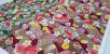Hand Fan Flowers. Tec.Douradinho Japonês. TI051  (50cm x 55cm) - Imagem 2