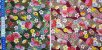 Hand Fan Flowers. Tec.Douradinho Japonês. TI051  (50cm x 55cm) - Imagem 5