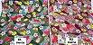Hand Fan Flowers. Tec.Douradinho Japonês. TI051  (50cm x 55cm) - Imagem 3