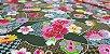 Hand Fan Flowers. Tec.Douradinho Japonês. TI051  (50cm x 55cm) - Imagem 4