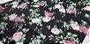 Flower in Silver Lines. Algodão Japonês - 50x55cm - Imagem 3