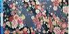 Flower Black Gray. Algodão Japonês - 50x55cm - Imagem 4