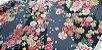 Flower Black Gray. Algodão Japonês - 50x55cm - Imagem 3