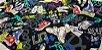 Tennis Shoes. Linho+Algodão Japonês -50x55cm - Imagem 4