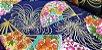 Flower in Fan. Tec.Douradinho Japonês. (50x55cm) - Imagem 2