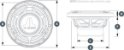 Alto Falante Marinizado 7.7 Pol. JL Audio MX770-CCX-SG-CR - Imagem 6