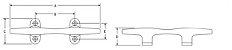 Cunho de Amarração em Aço Inox Attwood 8 Pol. Herreshoff HD - Imagem 3