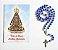 Terço com folheto de oração, Nossa Senhora Aparecida - Azul - A Dúzia - Cód.: 1859 - Imagem 1
