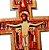 Cruz de São Damião - Tamanho P - em MDF com base - O Pacote com 3 unidadese - Cód.: 0493 - Imagem 3