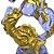 São Jorge Cristal com Base Ouro Velho - O Pacote com 3 peças - Ref.: IB.SJR.65 - Imagem 4