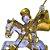 São Jorge Cristal com Base Ouro Velho - O Pacote com 3 peças - Ref.: IB.SJR.65 - Imagem 3